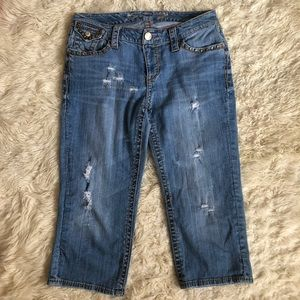 Seven 7 Distressed Capri Jeans 14